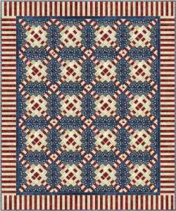 Laura Blanchard's block as a quilt