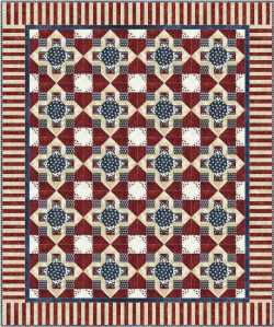 Theresa Eisinger's block as a quilt
