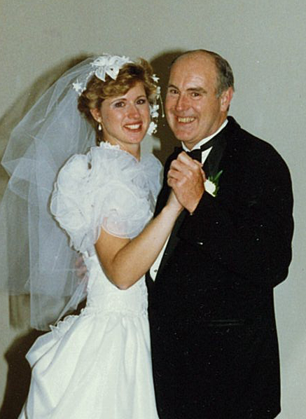 Dad & I at my wedding