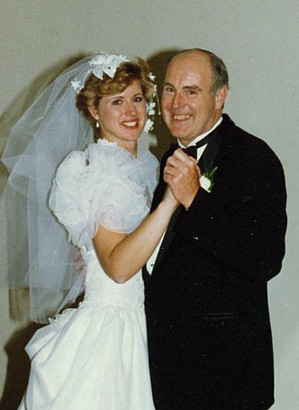 Dad & I at my wedding