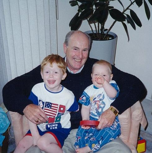 Dad with my boys Chris & Alex