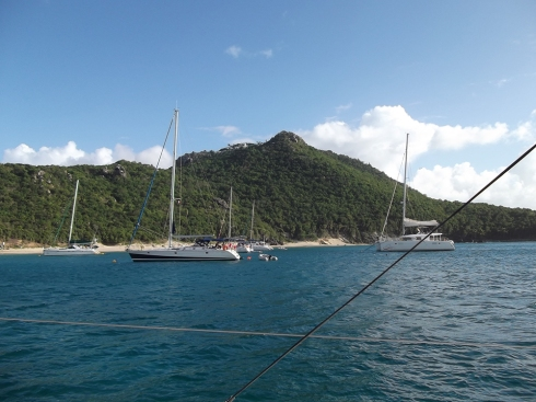 View of St. Martin from our boat