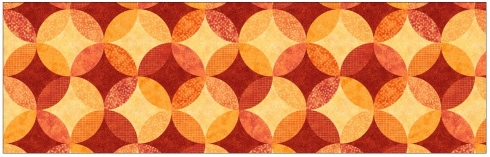 No-Sew Circles fabric from the Ambience collection