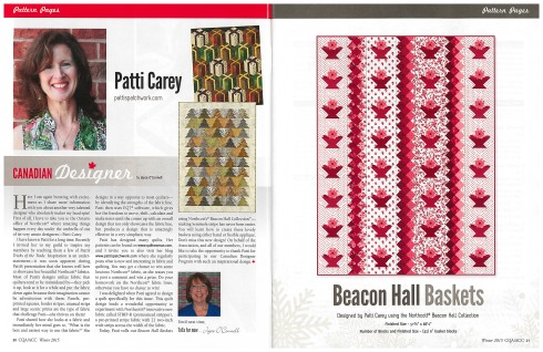 Article in the Winter 2015 issue of The Canadian Quilter