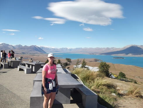 View from the top of Mt. John at lake Tekapo