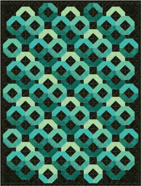jewel lap quilt