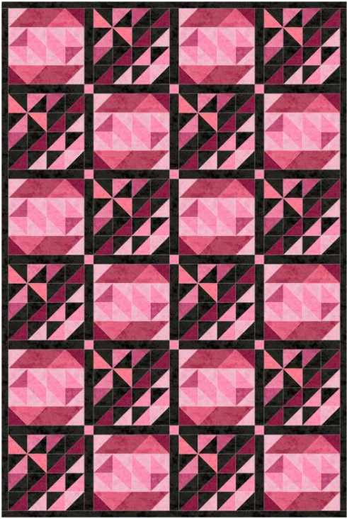 Pinwheel Plus and Z-Z-Z quilt