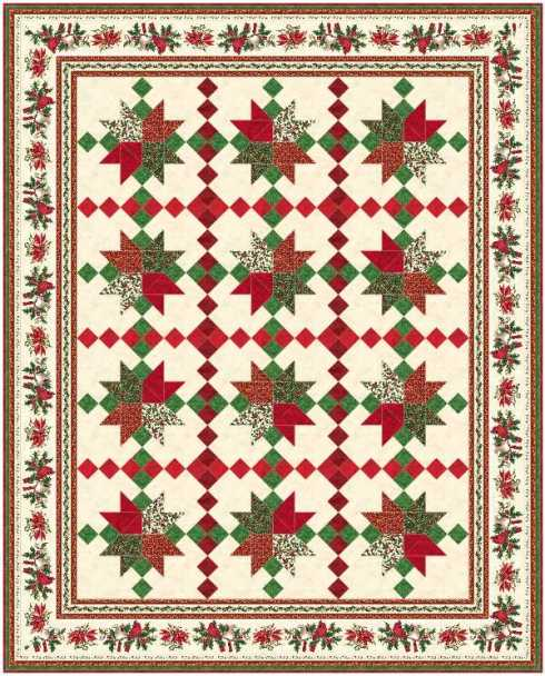 Featured in Quilts From 100 Blocks, using Christmas Traditions
