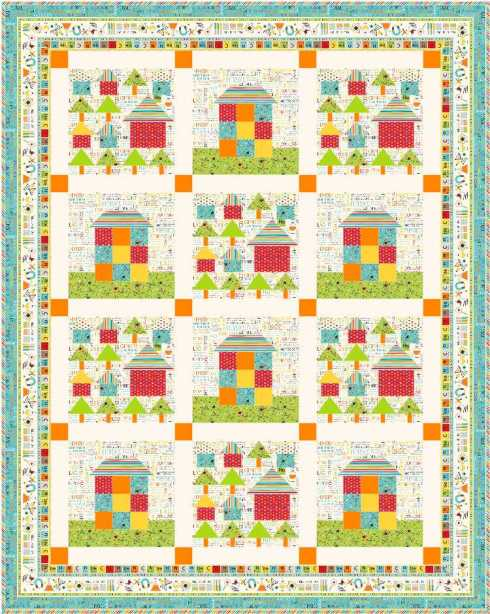 Quilt #4 - the 2 main house blocks