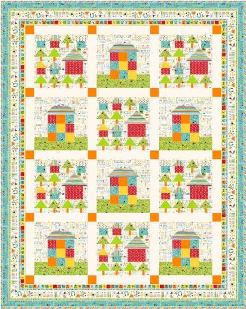 Quilt #4 - the 2 main house blocks