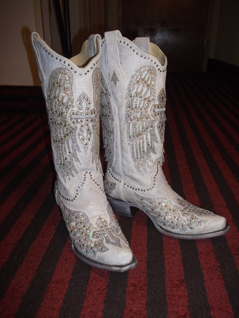 "My new ""dress"" boots! I'm ready to hit the town!"