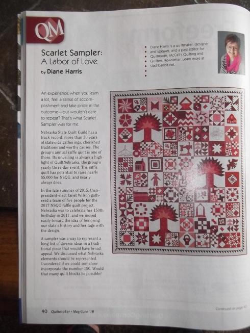 Diane Harris' fantastic Nebraska quilt