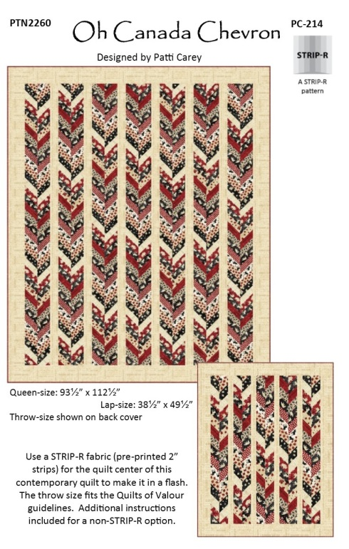 PC214 Oh Canada Chevron pattern using the STRIP-R fabric