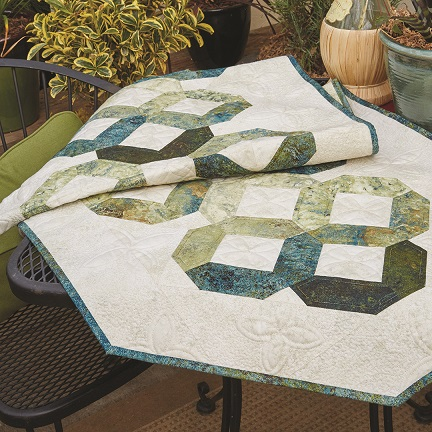 Jaded Facets bed-runner/table runner