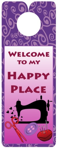 My Happy Place Knobie from The Fat Quarter Gypsy