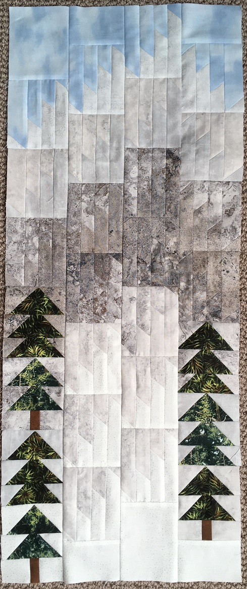 Finished quilt top minus the applique