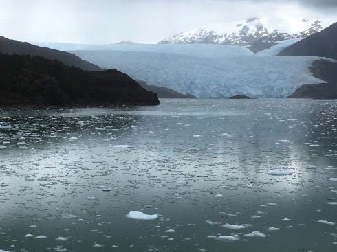 glacier in Chilean fjords