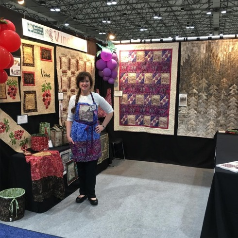 The Patti's Patchwork booth at Spring 2019 Quilt Market