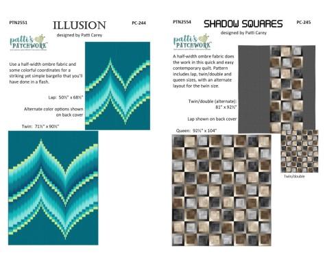 PC244 Illusion & PC245 Shadow Squares