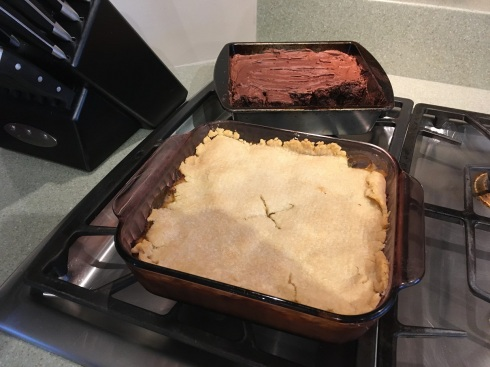 Last night's dinner - turkey pot pie and chocolate brownies - yum!
