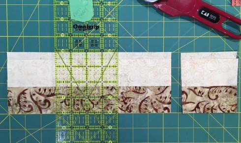 I stack my strip sets, offsetting them by an inch or so to cut multiple pieces at once - faster!