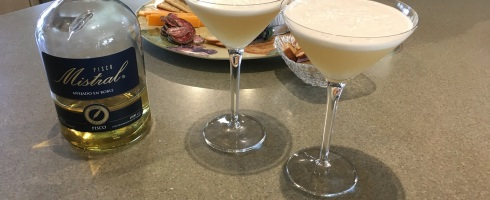 Pisco Sours with appetizers