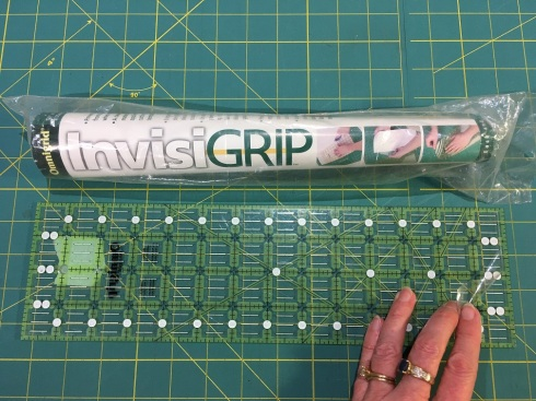Invisi-Grip is a thin film applied to the underside of rulers