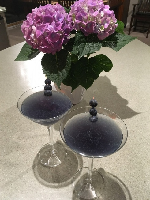 Our Very Berry martinis complement my hydrangea