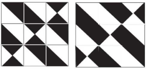 Block 4 as a 9-patch with and without patch lines