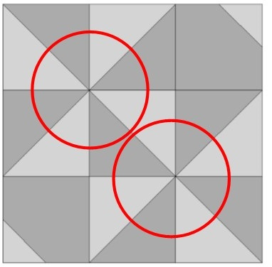 2 pinwheel intersections