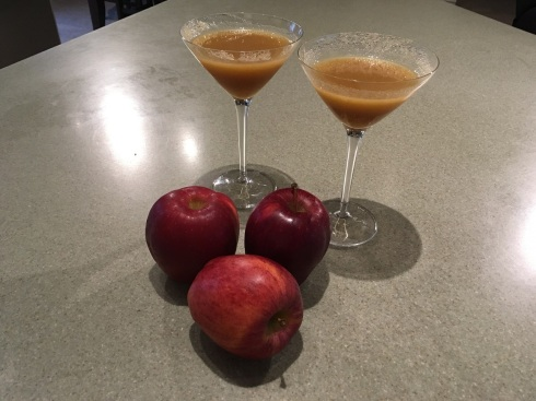 Our version of an apple-tini for our Normandy port of call.