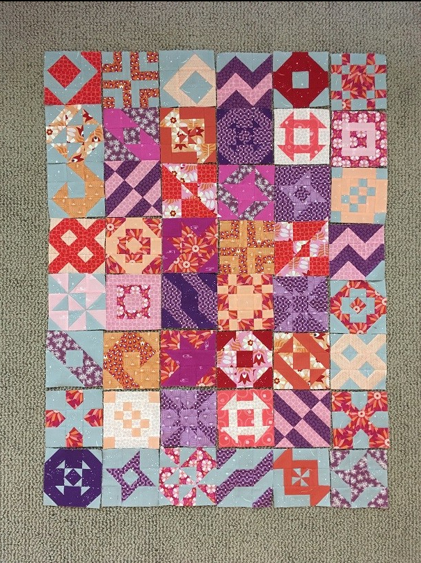 My FIGO blocks are arranged in 8 rows of 6