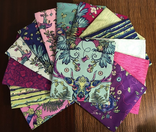 Who would like a fat quarter pack of Brett Lewis' Stag & Thistle?