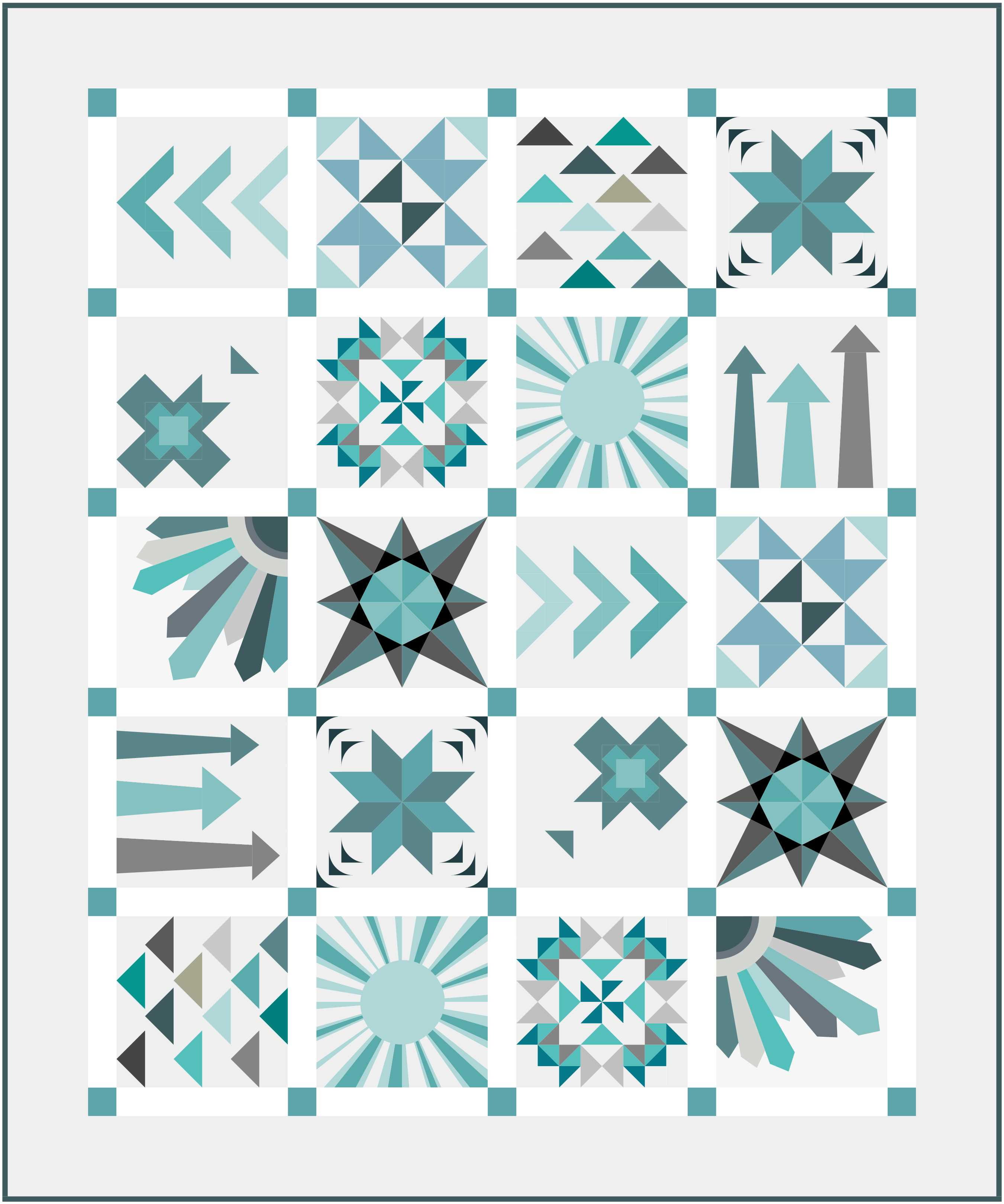 Stars & Beyond quilt layout