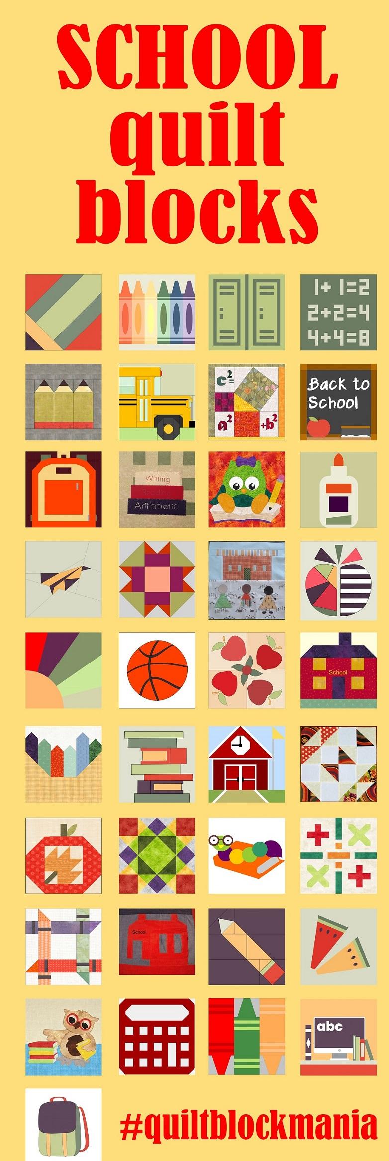 Quilt Block Mania August blocks