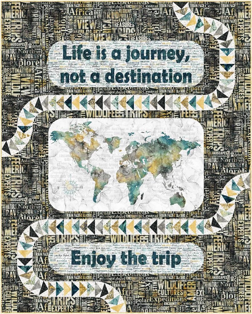My Journey quilt featuring Melanie Samra's Journey collection