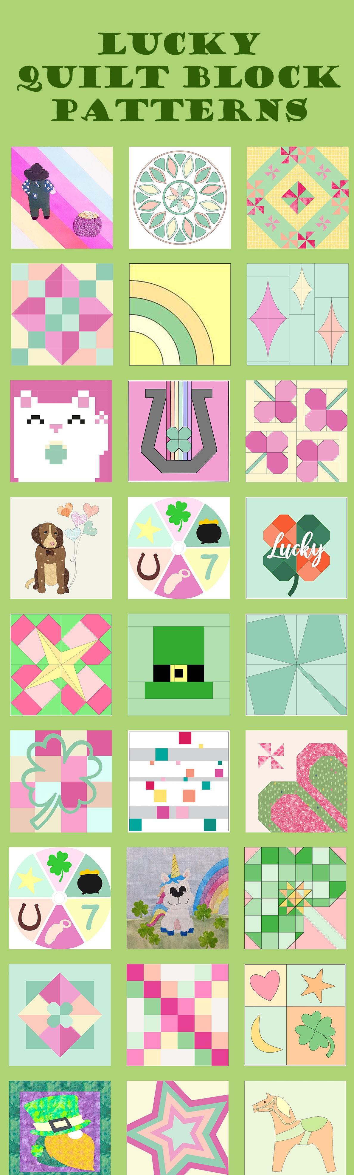 Quilt Block Mania February Collage Image