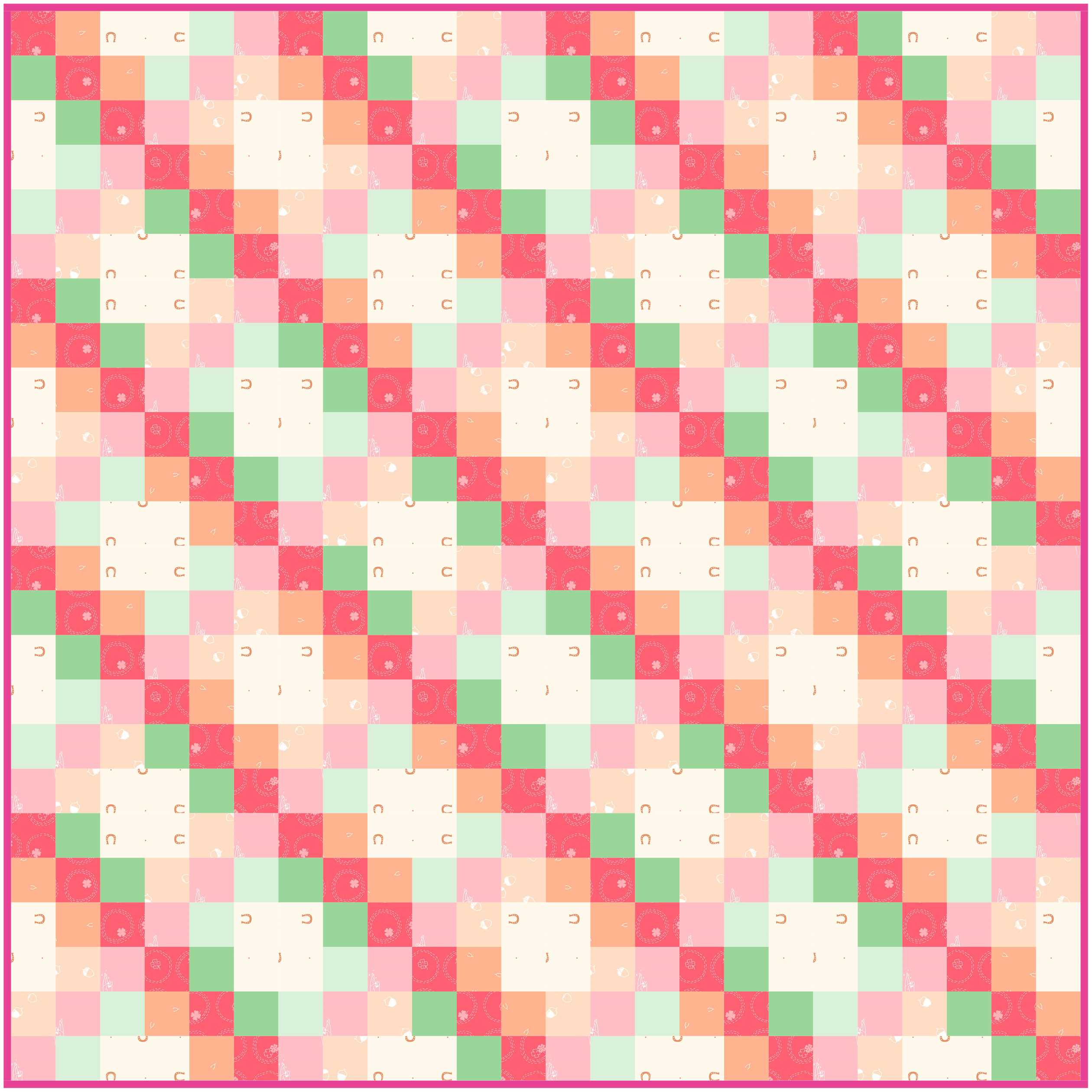 """The soft colors flow and weave through this 36"""" square quilt"""