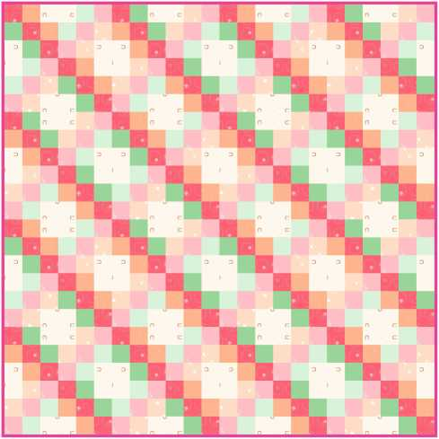"The soft colors flow and weave through this 36"" square quilt"
