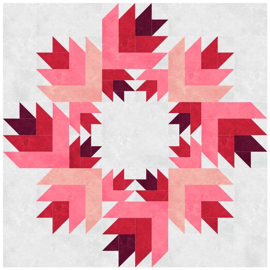 Rosebud Wreath by Patti's Patchwork