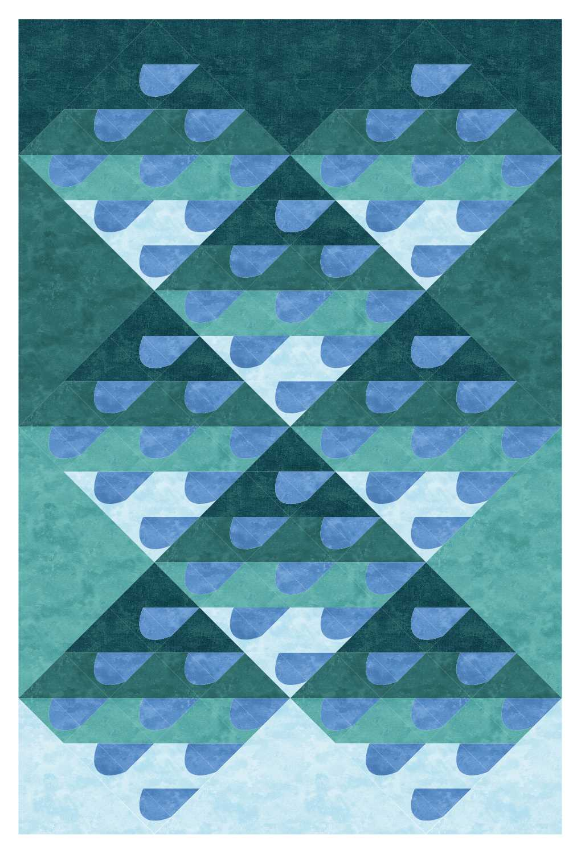 on-point Rain quilt