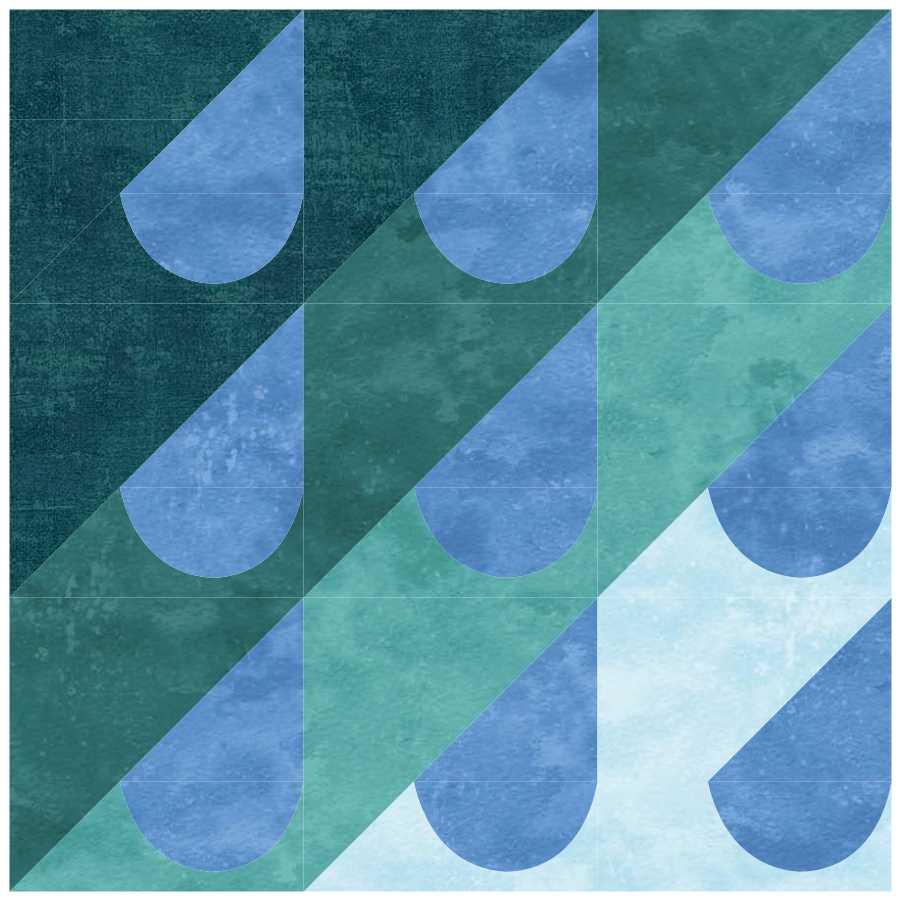 Patti's Patchwork - Pouring Rain