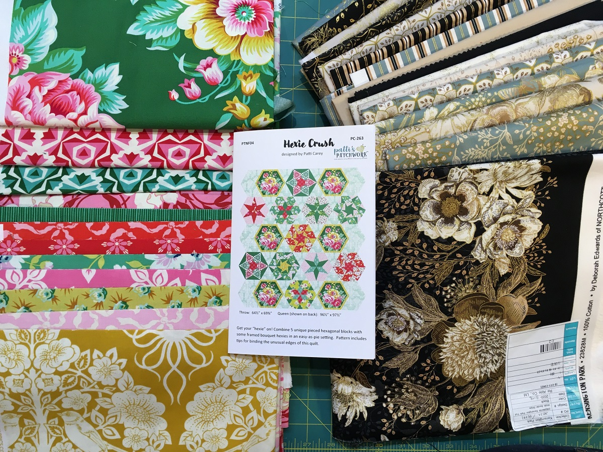 True Kisses and Kensington Park fabrics - two different looks!