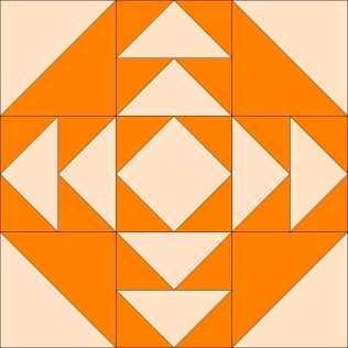 June's pumpkin-colored block