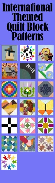 International Themed Quilt Block Patterns