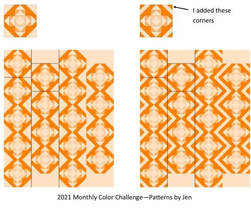 Vertical strip quilt options
