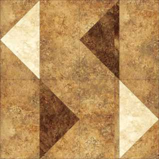 "August's 12"" block in Stonehenge Gradations Onyx shades"