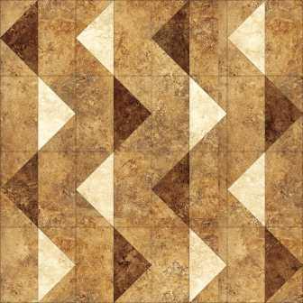 """Four of August's 6"""" blocks sewn together to make a 12"""" block"""